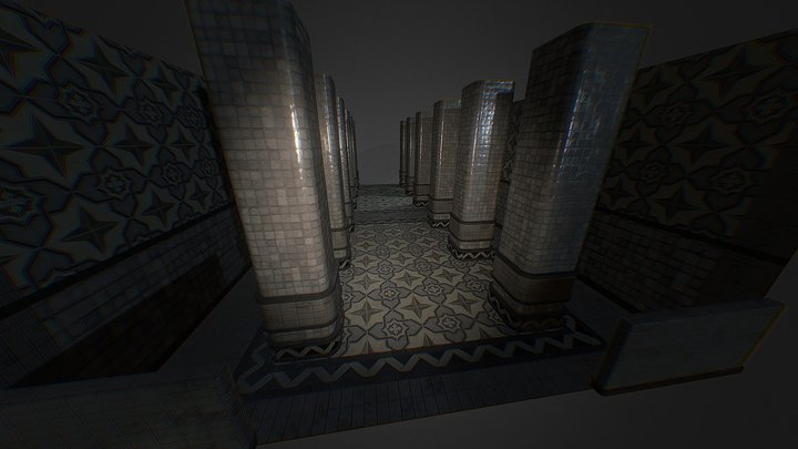 Bath House Pbr Test 3D Model
