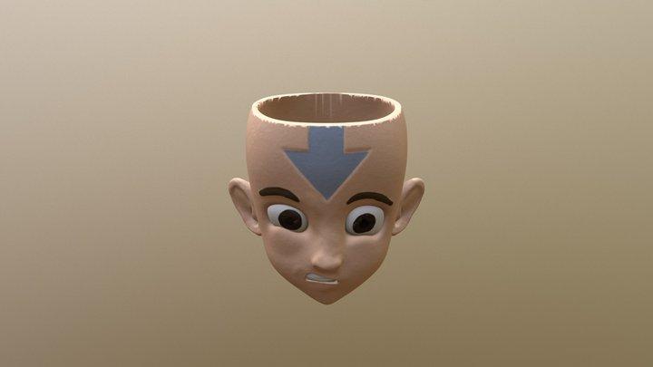 Airbender Aang Mug 3D Model