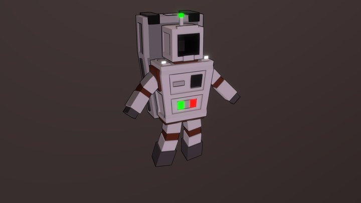 Astronaut 3D low-poly model for the game 3D Model