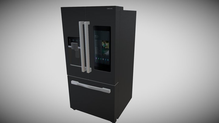 3D Model of Kitchen Fridge 3D Model