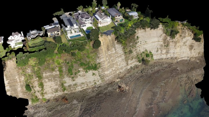 Cliff Road Slip Visualisation 3D Model