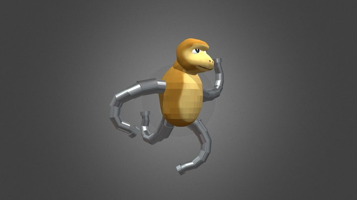 Oog Boog Pokemon 3D Model