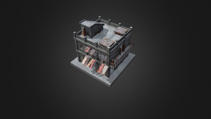 An old houses 3D Model