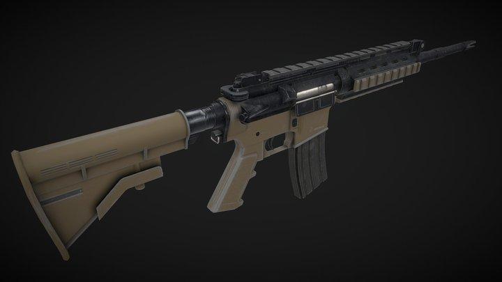 M4A1 Sopmod Remaster 3D Model