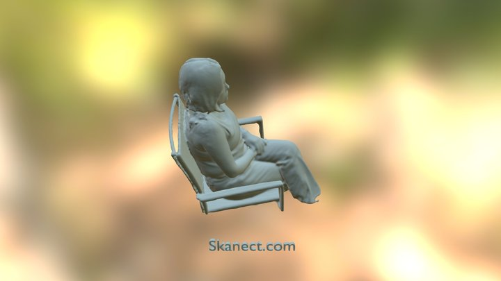 Elisa Sentada 3D Model