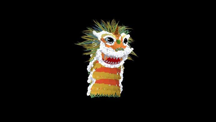 Beautiful lion for Chinese lion dance中华舞狮 3D Model