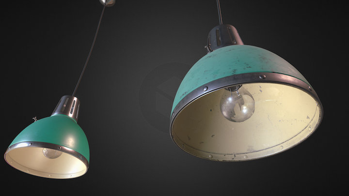 Retro Light - old&clean model 3D Model