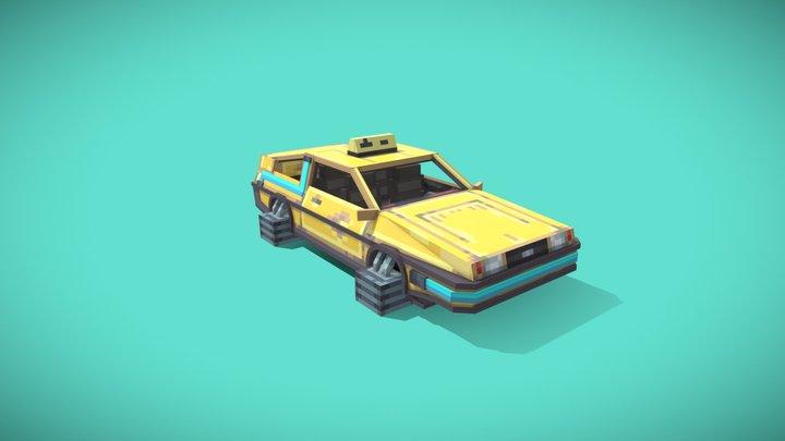 Cyberpunk DMC DeLorean - Taxi 3D Model