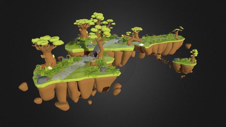 Antistar (GAME), Klinnburg's land masses 3D Model