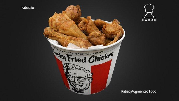 KFC - Bucket of Fried Chicken 3D Model