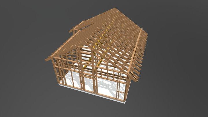 Job N16 Timber Frame Structure 3D Model