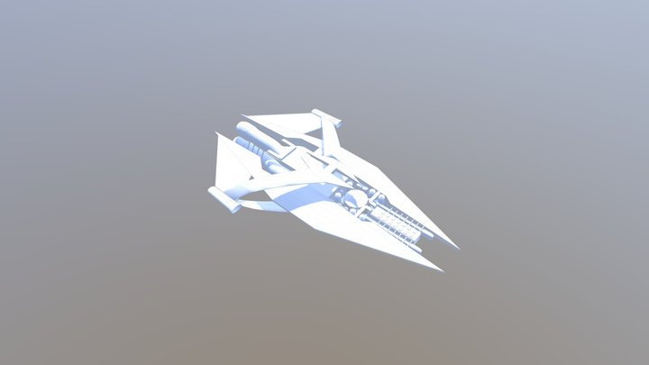 G'Quan class heavy cruiser 3D Model