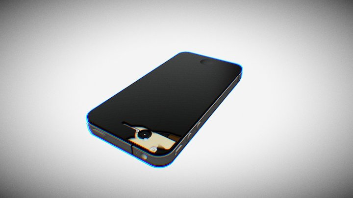 Cracked iPhone 3D Model