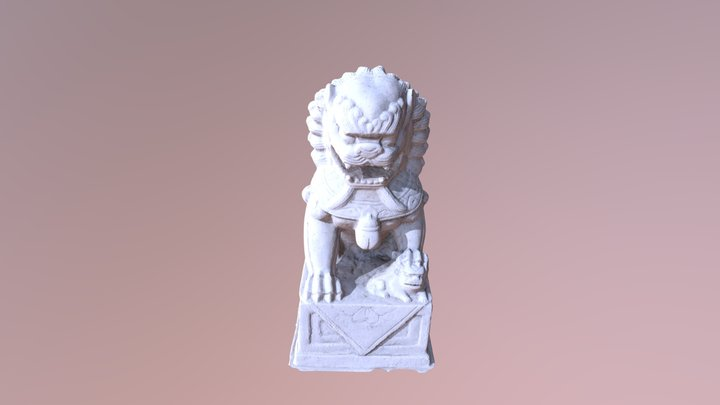 Chinese Lion 3D Model