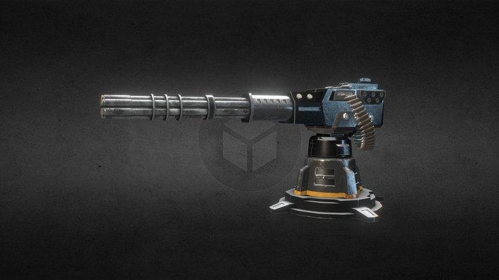 Sci Fi Gatling Gun 3D Model