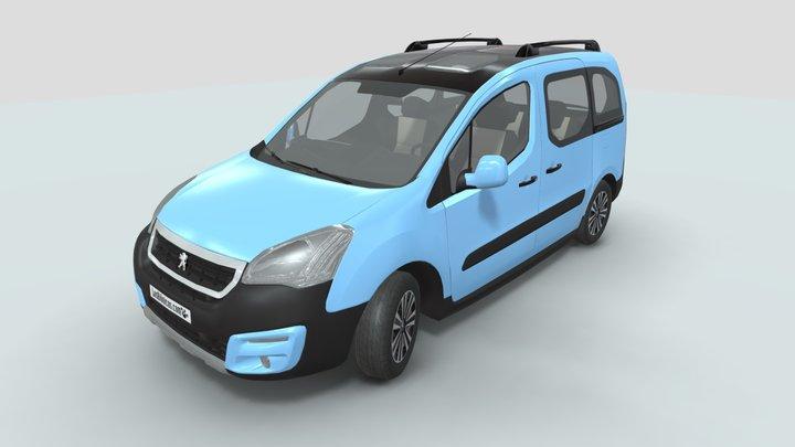 Peugeot Partner Tepee low-poly 3D Model