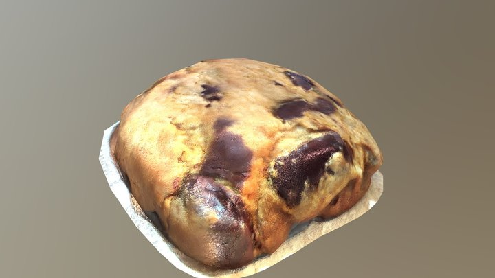 Big Cookie Very Low Poly 3D Model