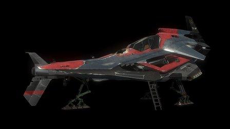 Spaceship Patrol 3D Model