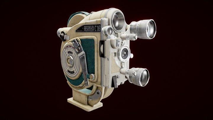 Vintage Film Camera Eumig C16R 3D Model