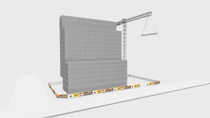 Obj3 + Bannery 3D Model