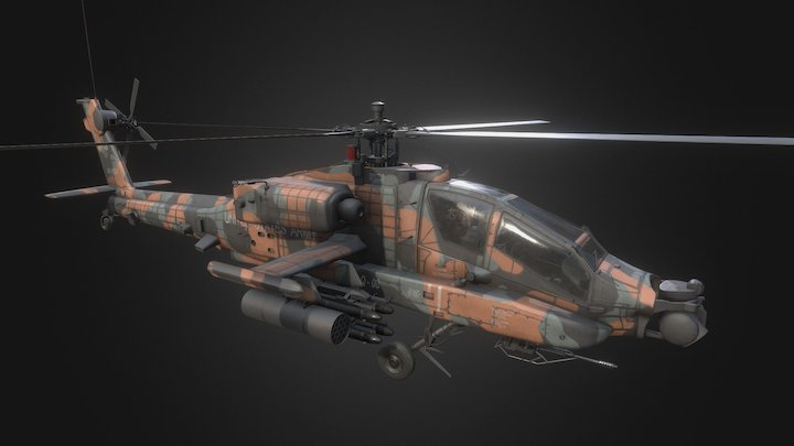 Apach-64 3D Model