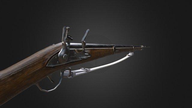 Charleville 77 (Musket model 1777) Used 3D Model
