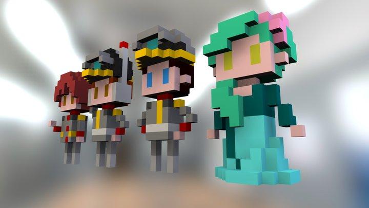 Stingray Main Characters 3D Model