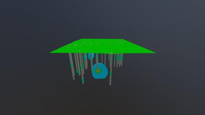 Cis 1,2 Dichloroethene Contours 3D Model