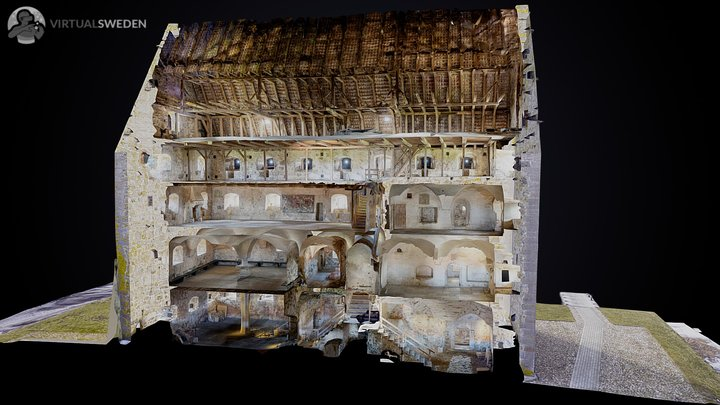 Glimmingehus medieval castle 3D Model