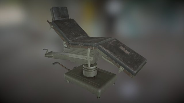 Old Surgical Bed 3D Model