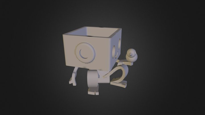 Robbie the Robot Planter and Tweet 3D Model