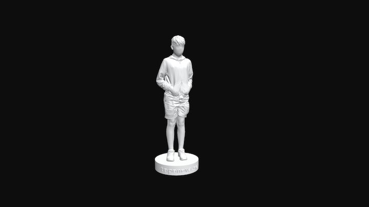 Fuboss Mounting Artec EVA Scanner - Toponova Boy 3D Model