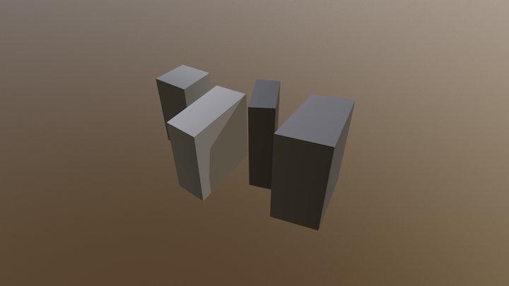 Walking Stones 3D Model