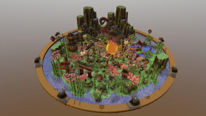 Oriental Lobby 3D Model