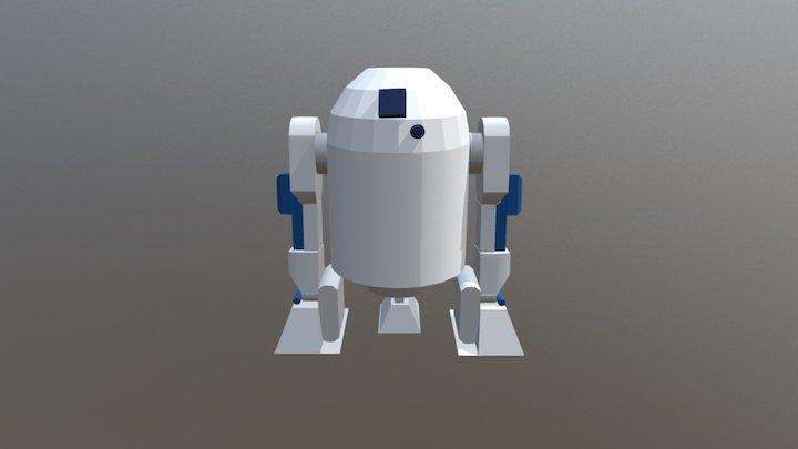 Papercraft r2d2 3D Model