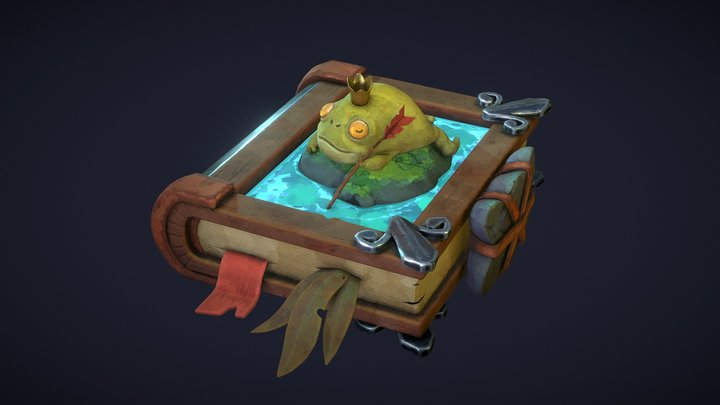 The Frog Princess Book 3D Model