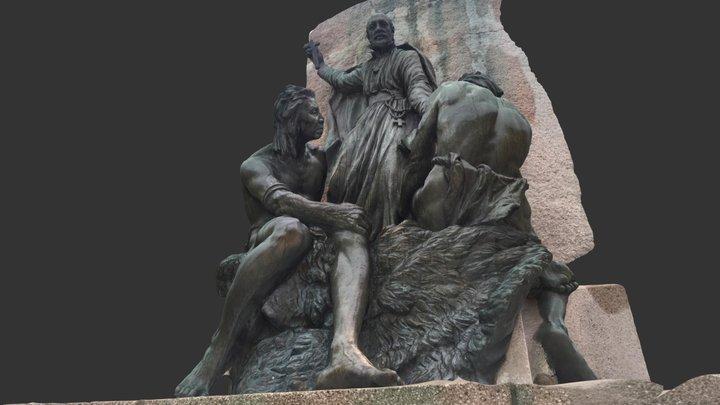 Champlain Monument higher detail side 3D Model