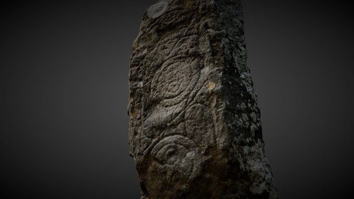 Clach Ard Pictish Stone -Tote - Isle of Skye 3D Model