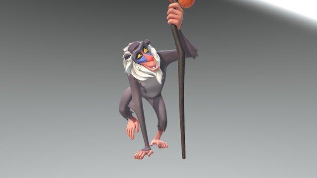 Rafiki the baboon 3D Model