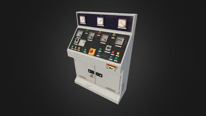 Control Desk Panel 3D Model