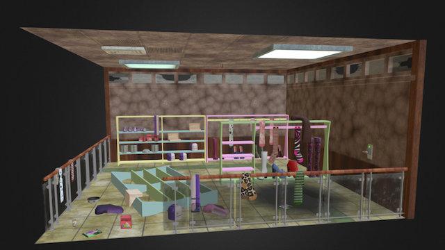 Mall diorama 3D Model