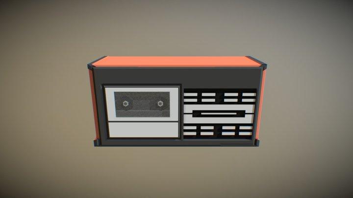 80's music player 3D Model
