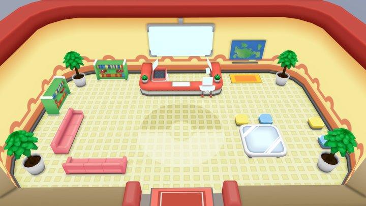 Pokemon Center Scene 3D Model