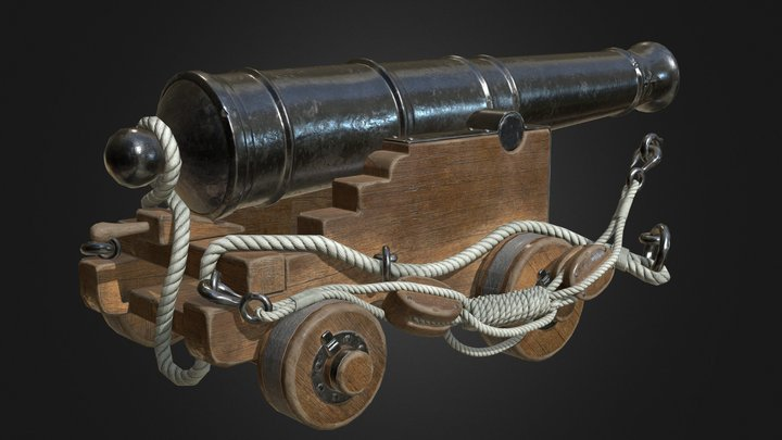 Royal navy cannon 3D Model