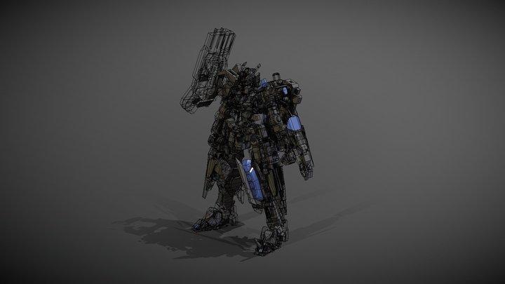 Astarosh Gundam Hi- Res Ver 3D Model