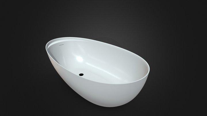 Eclipse Bathtub By Antoniolupi 3D Model
