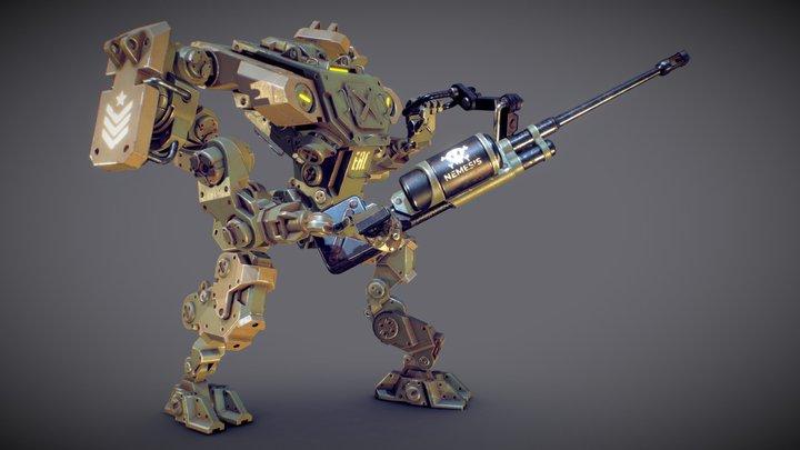 Mobile Battlesuit 3D Model