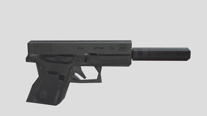 ps2 glock 18 (low poly) 3D Model