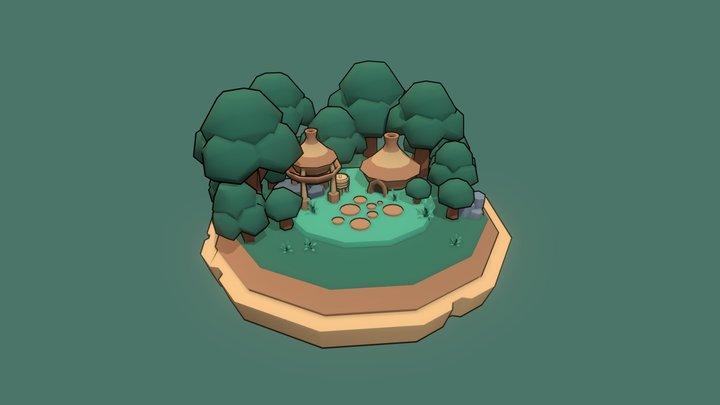 Forest Diorama 3D Model