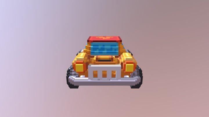 Voxel car 3D Model